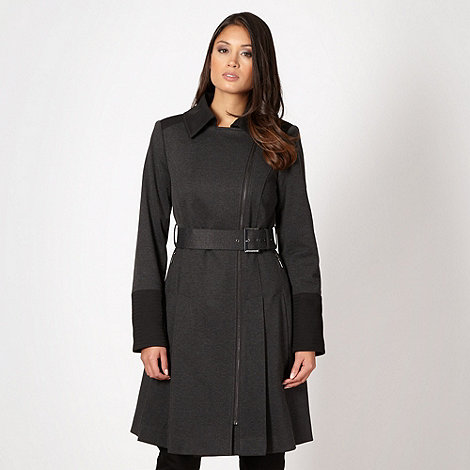 J by Jasper Conran - Designer black buckle side zip coat