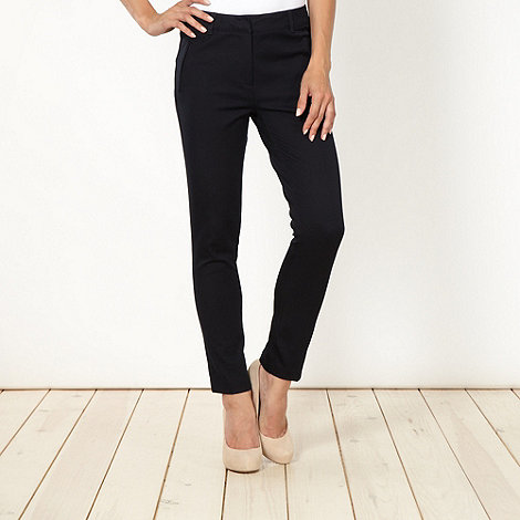 J by Jasper Conran - Shape enhancing navy slim leg trousers