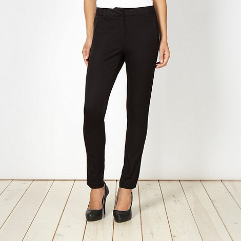 J by Jasper Conran - Shape enhancing black slim chinos