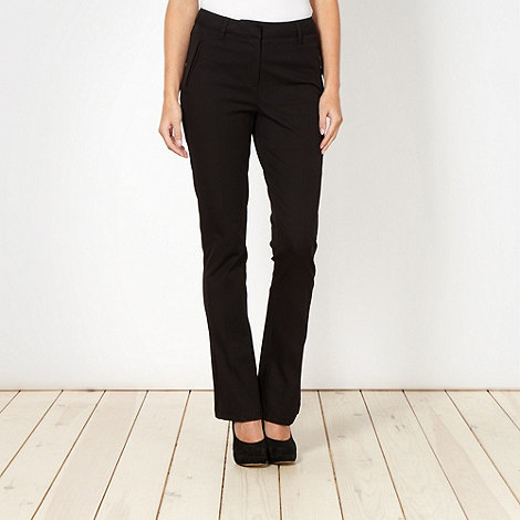 J by Jasper Conran - Shape enhancing black bootcut chinos
