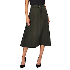 J by Jasper Conran - Green belted A-line skirt