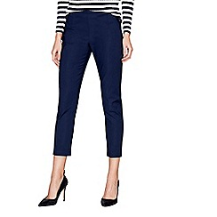 J by Jasper Conran - Navy sateen slim leg trousers