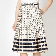 Designer natural 3D cube skirt