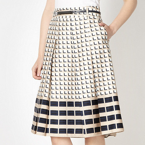 J by Jasper Conran - Designer natural 3D cube skirt