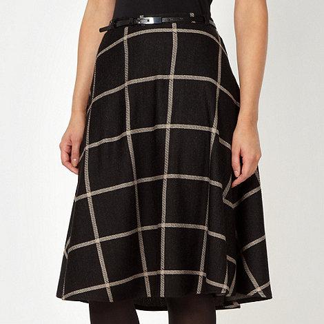 J by Jasper Conran - Designer black large checked skirt