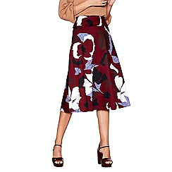 J by Jasper Conran - Dark red floral print skirt