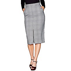 J by Jasper Conran - Black and white Prince Of Wales checked pencil skirt