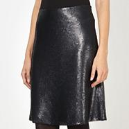Designer black sequinned skirt