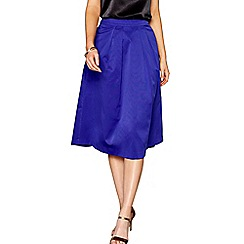 J by Jasper Conran - Blue midi length A-line skirt