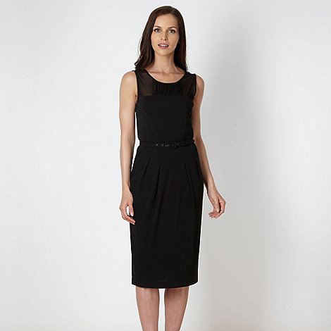 J by Jasper Conran - Online exclusive - Designer black mesh insert dress