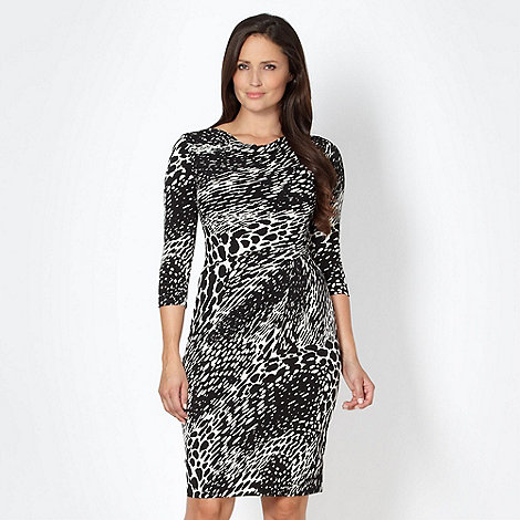 J by Jasper Conran - Designer black abstract spotted dress