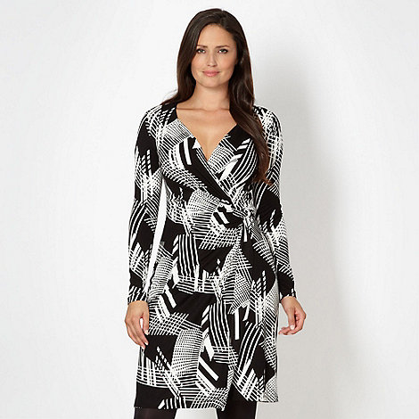 J by Jasper Conran - Designer black linear wrap dress