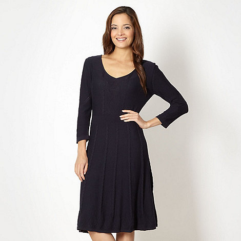 J by Jasper Conran - Designer navy diamond knit dress