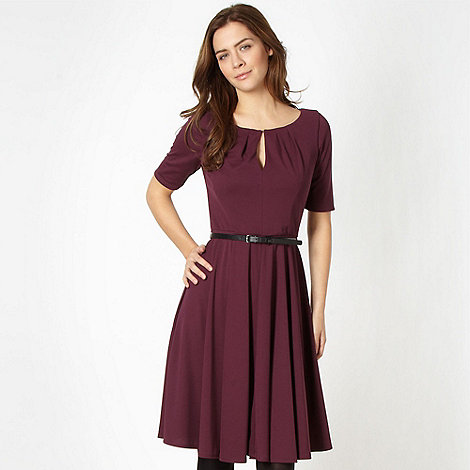 J by Jasper Conran - Designer wine keyhole jersey dress