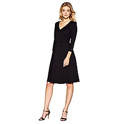J by Jasper Conran - Black V-neck skater dress