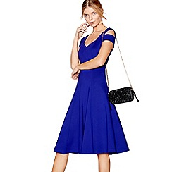 J by Jasper Conran - Bright blue double strap fit and flare dress
