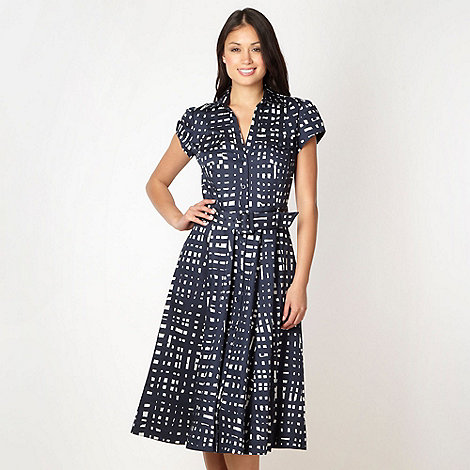 J by Jasper Conran - Designer navy checked shirt dress