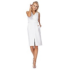 J by Jasper Conran - Ivory V-neck shift dress