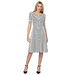 J by Jasper Conran - White chevron print dress