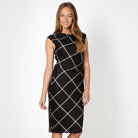 J by Jasper Conran - Designer black checked dress