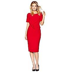 J by Jasper Conran - Red knee length pencil dress