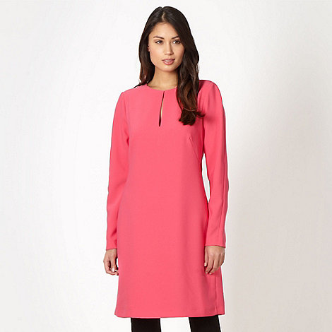 J by Jasper Conran - Designer bright pink keyhole tunic dress