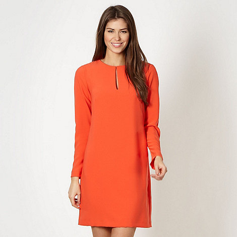 J by Jasper Conran - Designer orange keyhole tunic dress