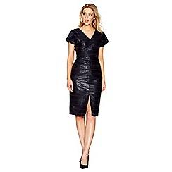 J by Jasper Conran - Black striped jacquard pencil dress