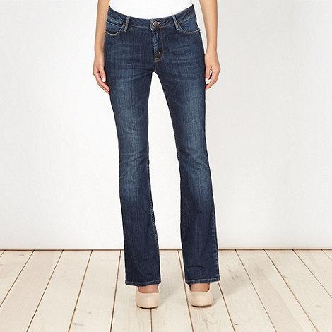 J by Jasper Conran - Designer dark blue slim bootcut jeans