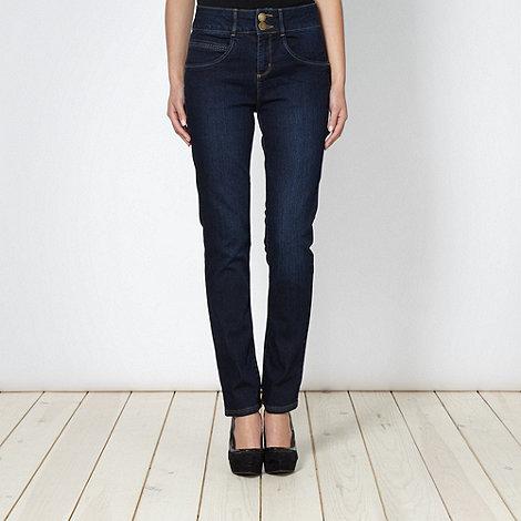 J by Jasper Conran - Shape enhancing blue high waisted jeans