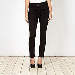 J by Jasper Conran - Shape enhancing black high waist skinny jeans