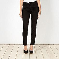 J by Jasper Conran - Shape enhancing black high waist skinny jeans