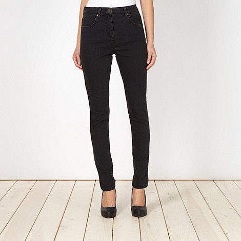 J by Jasper Conran - Designer black washed skinny jeans