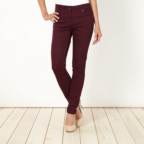 J by Jasper Conran - Designer winter berry skinny jeans