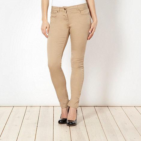 J by Jasper Conran - Designer tan skinny jeans