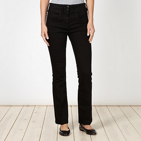 J by Jasper Conran - Shape enhancing black high waist bootcut jeans