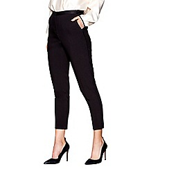 J by Jasper Conran - Black cropped tuxedo trousers