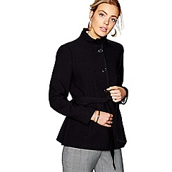 J by Jasper Conran - Black funnel neck crepe jacket