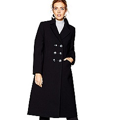 J by Jasper Conran - Black double breasted coat
