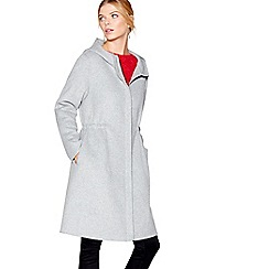 J by Jasper Conran - Grey wool blend parka coat