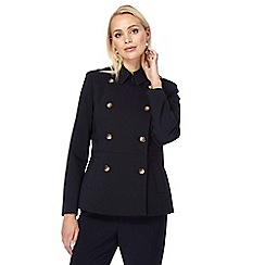 J by Jasper Conran - Navy pleated back mac