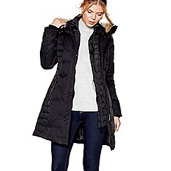 J by Jasper Conran - Black feather and down filled puffer coat