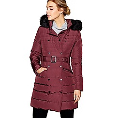 J by Jasper Conran - Purple feather and down padded coat