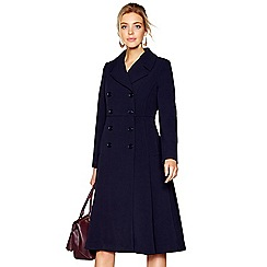 J by Jasper Conran - Navy blue double breasted riding coat