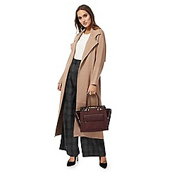 J by Jasper Conran - Taupe belted coatigan
