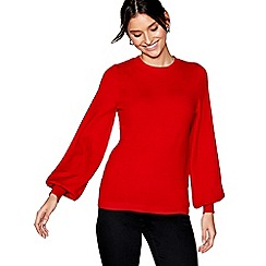 J by Jasper Conran - Red balloon sleeves jumper