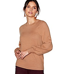 J by Jasper Conran - Tan balloon sleeves jumper