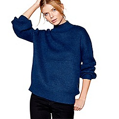 J by Jasper Conran - Dark blue balloon sleeves jumper