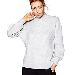 J by Jasper Conran - Grey ribbed jumper