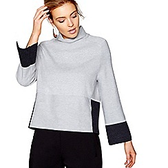 J by Jasper Conran - Grey funnel neck jumper with wool